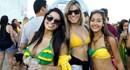 Nhan sắc Brazil nóng bỏng ăn mừng chiến thắng