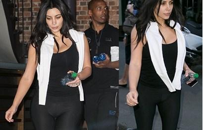 """Kim """"siêu vòng 3"""" lại gây sốc khi diện quần bó sát ra phố"""