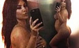 Kim Kardashian chụp ảnh nude nóng bỏng khoe bụng bầu