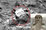 Kỳ lạ phát hiện khối đá hình mặt người trên sao Hỏa