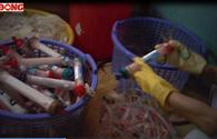 Kinh hoàng công nghệ chế biến rác bẩn ở Bệnh viện Bạch Mai