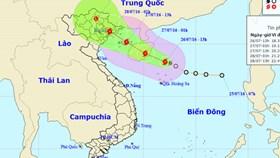 Bão số 1 quét qua Hà Nội gây mưa lớn
