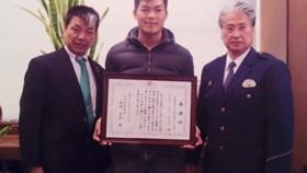 Chàng trai Việt được vinh danh tại Nhật vì dũng cảm cứu người
