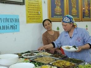 Quán cơm chay tùy tâm ở Hà Nội