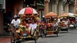 Đi xíchlô hoa ở Melaka