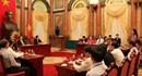 Chủ tịch Nước Trương Tấn Sang gặp mặt nữ công nhân tiêu biểu ngành dầu khí