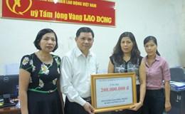 Công đoàn Nông nghiệp và Phát triển Nông thôn Việt Nam ủng hộ đồng bào miền Trung