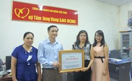 LĐLĐ tỉnh Thái Nguyên chung tay giúp sức hỗ trợ đồng bào miền Trung