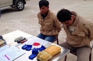 Quảng Trị: Bắt hai đối tượng người Lào vận chuyển 10.000 viên ma túy tổng hợp
