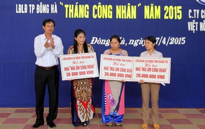 LĐLĐ TP. Đông Hà: CĐ đồng hành với doanh nghiệp và đời sống của người lao động
