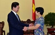 Thủ tướng Nguyễn Tấn Dũng tiếp Giáo sư Thiên văn học Lưu Lệ Hằng