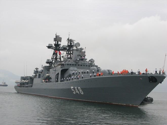 Tàu chống ngầm hiện đại của Hải quân Nga thăm hữu nghị Đà Nẵ