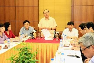 Phó Thủ tướng Nguyễn Xuân Phúc kiểm tra phòng chống lũ tại Lạng Sơn
