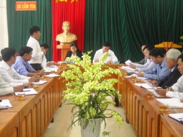 Công đoàn Hà Tĩnh quyết đưa xã Cẩm Yên về đích NTM trong năm 2015