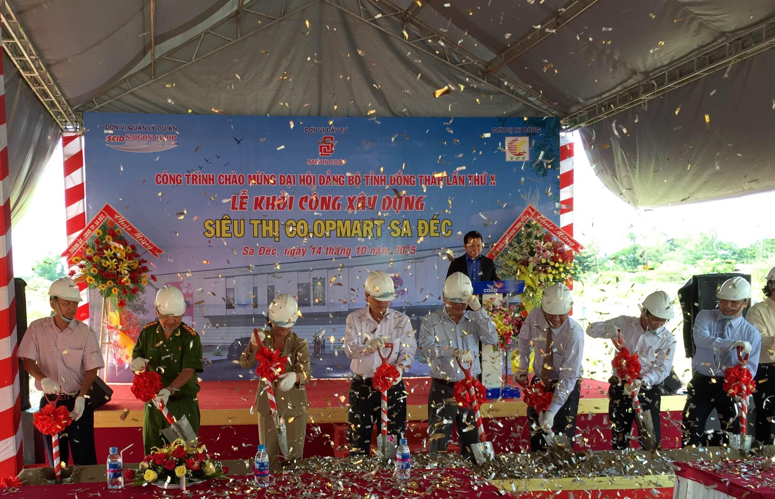 Saigon Co.op khởi công xây dựng siêu thị Co.opmart Sa Đéc - ảnh 1