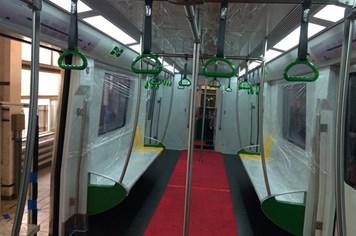 Hé lộ hình ảnh đoàn tàu mẫu đường sắt trên cao Cát Linh-Hà Đông