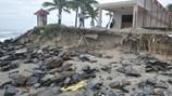 """Bờ biển Cửa Đại bị sóng """"nuốt"""" hàng trăm mét"""