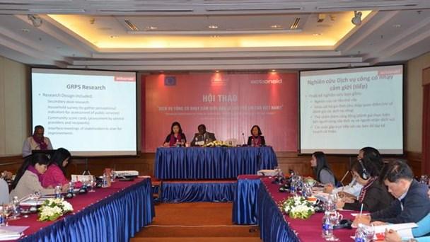 Hội thảo do do Tổ chức phi chính phủ quốc tế ActionAid Việt Nam (AAV) và Trung tâm nghien cứu giới – gia đình và môi trường trong phát triển (CGFED) tổ chức.