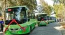 Bí thư Thành ủy TP.HCM Đinh La Thăng đi thử tuyến xe buýt mới khai trương ở Cần Giờ.