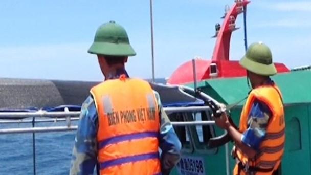 Lực lượng BĐBP Quảng Bình đã xua đuổi nhiều tàu cá Trung Quốc xâm phạm trái phép vùng biển Việt Nam. Ảnh: BĐBP Quảng Bình cung cấp.
