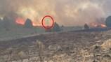 Bí ẩn hình ảnh bóng ma lơ lửng trong đám cháy