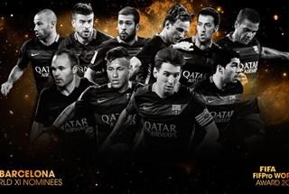 """FIFA công bố 55 đề cử vào """"Đội hình tiêu biểu năm 2015"""""""