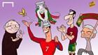20 khoảnh khắc khó quên của EURO 2016 qua tranh biếm họa