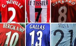 """Những số áo đáng """"cất vào tủ kính"""" nhất trong lịch sử Ngoại hạng Anh"""
