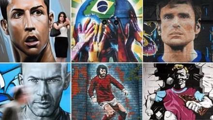 Ronaldo, Zidane, Maradona và 20 bức họa Graffiti tuyệt đỉnh về bóng đá
