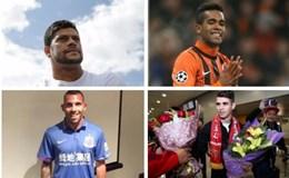 """""""Đếm tiền, kiểm lương"""" của các cựu sao Châu Âu đang thi đấu tại Trung Quốc"""