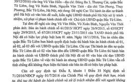 Cục thi hành án Hà Nội: Nhắc xử lý Chủ tịch UBND quận Bắc Từ Liêm theo quy định