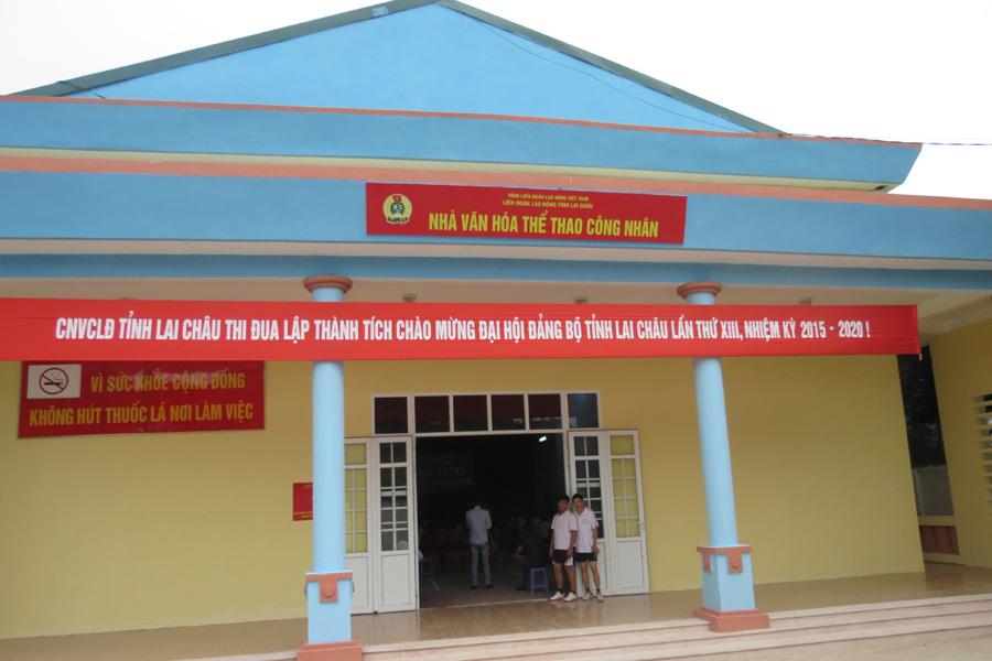 LĐLĐ tỉnh Lai Châu bàn giao Nhà văn hóa thể thao công nhân Cty CP Trà Than Uyên: Tạo sân chơi cho người lao động