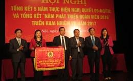 LĐLĐ TP. Hà Nội đã thực hiện 90,5% chỉ tiêu phát triển đoàn viên nhiệm kỳ 2013 - 2018