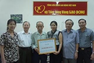 CLB Sỹ quan hưu trí Công an TP.Hà Nội ủng hộ 30 triệu đồng xây dựng Khu Tưởng niệm chiến sỹ Gạc Ma
