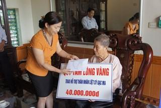 Quỹ Tấm lòng vàng Lao Động tặng 270 triệu đồng, tri ân các gia đình liệt sỹ Gạc Ma tại Thái Bình