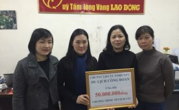 Cty TNHH MTV Du lịch Công đoàn Việt Nam: Góp Tết cho lao động nghèo