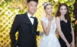 Ngọc Trinh cùng dàn sao đến chúc mừng đám cưới Kỳ Hân - Mạc Hồng Quân