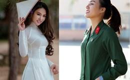 Nhan sắc yêu kiều của cô gái từng thi Hoa hậu Việt Nam tình nguyện nhập ngũ