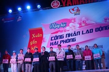 CĐ Khu Kinh tế Hải Phòng : Hơn 2000 suất quà cho CN đón Tết