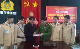 CSGT Bỉm Sơn tìm được chủ nhân tài sản đánh rơi