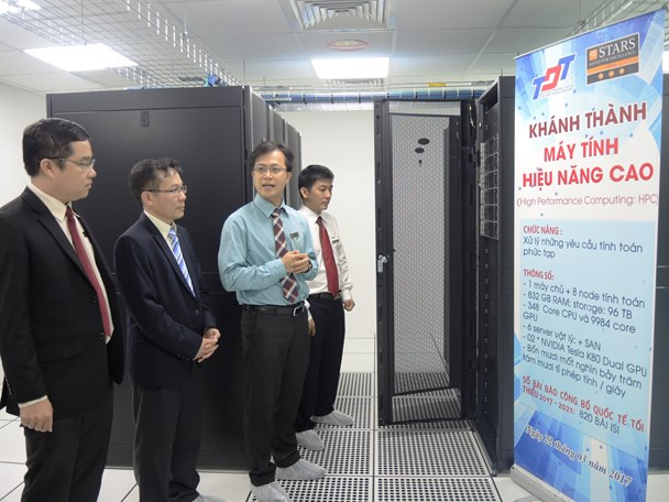 Khánh thành máy tính hiệu năng cao tại Trường Đại học Tôn Đức Thắng (ảnh M.P)