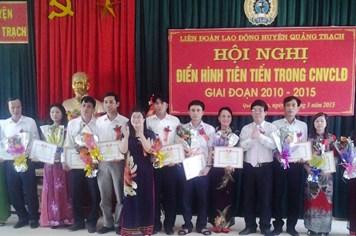 LĐLĐ Quảng Trạch (Quảng Bình): Khen thưởng 14 tập thể, 34 cá nhân