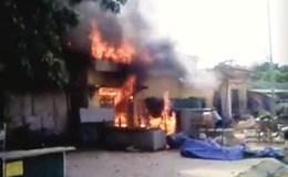 Quảng Bình: Cháy lớn tại chợ Đồng Lê