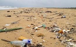 Tìm kiếm, truy nguyên xuất xứ dầu vón cục, rác thải trôi dạt vào bờ biển huyện Núi Thành