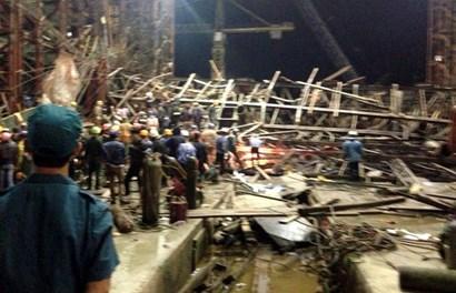 Toàn cảnh kinh hoàng vụ sập giàn giáo công trường Formosa, ít nhất 12 người chết