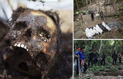 Những hình ảnh kinh hoàng trong hành trình tiếp tục khai quật mộ tập thể ở Thái