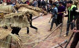 """Độc đáo lễ hội """"trâu rơm bò rạ"""" ngày xuân"""
