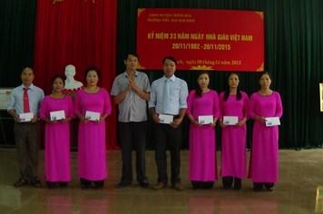CĐ Trường tiếu học Kim Bình (Tuyên Quang): Khen thưởng 6 giáo viên có thành tích xuất sắc