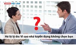 Hé lộ lý do: Vì sao nhà tuyển dụng không chọn bạn?