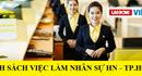 Danh sách việc làm nhân sự tháng 12 tại Hà Nội và TP. Hồ Chí Minh